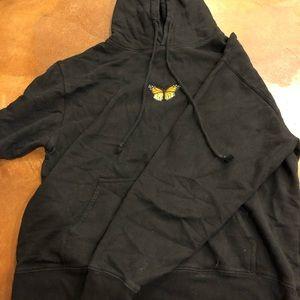 Black brandy Melville butterfly hoodie
